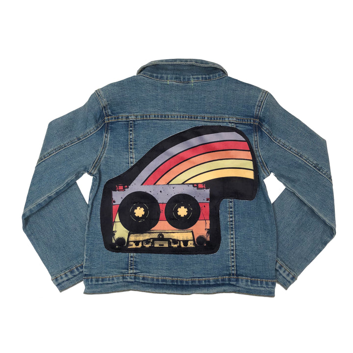 Wee Monster Cassette Rainbow Jean Jacket
