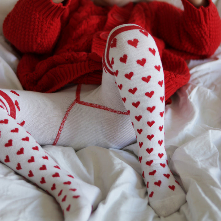 Winter Weight Heart Tights for Kids
