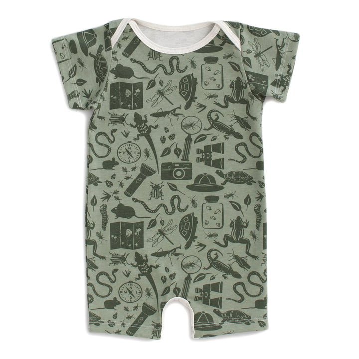 Baby Nature Explorer Print Organic Cotton Romper
