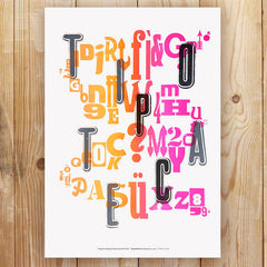 Tipoteca wood type letterpress poster by The Occasional Print Club.