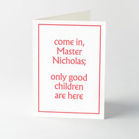 Christmas messages letterpress greeting cards