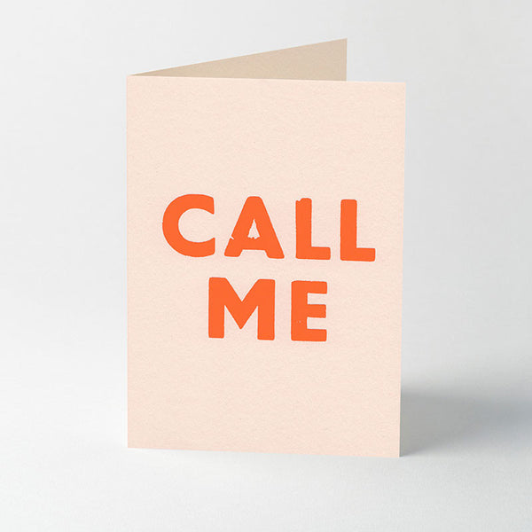 Song title letterpress greeting cards