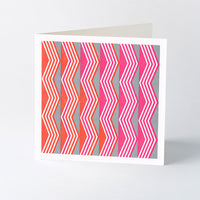 'Chevron' geometric letterpress card