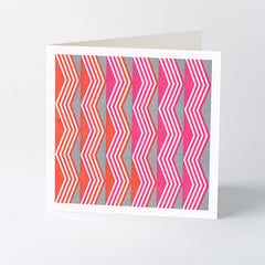 chevron geometric letterpress card