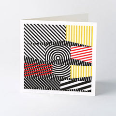 'Dazzle' geometric letterpress card