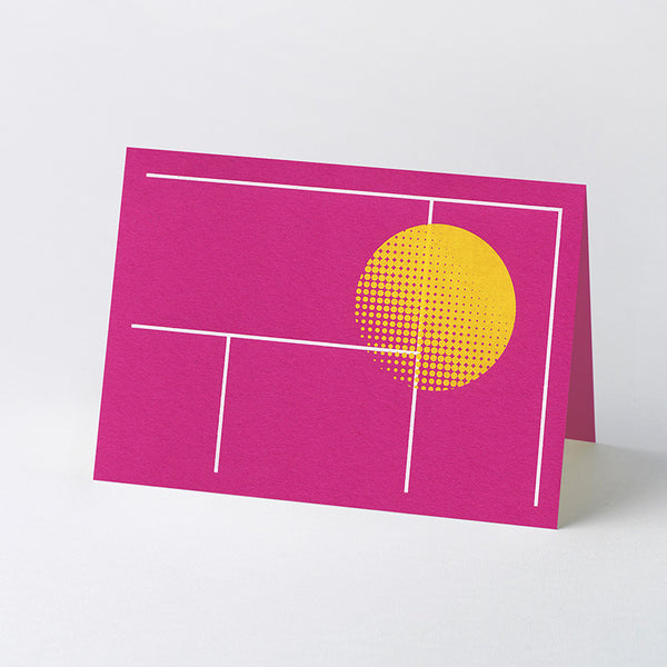 Geometric 'Leisure Time' hot-foil stamped greeting cards