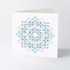 'Glint' ornament letterpress Christmas card.