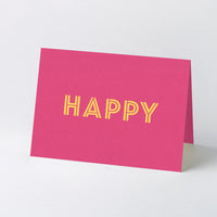 Hot foil stamped song title greeting cards