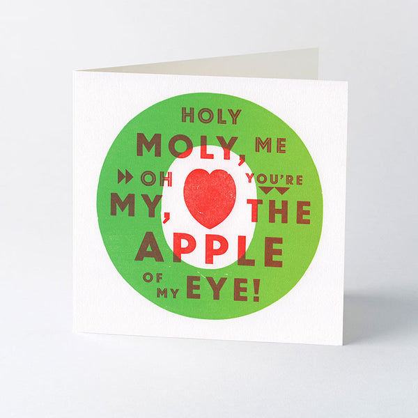 'Holy Moly, Me Oh My!' letterpress Valentines card