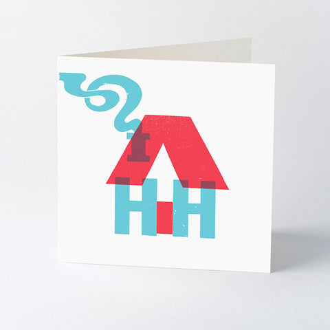'Home Sweet Home' wood type card