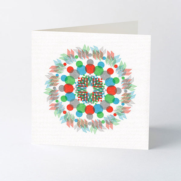 'Kaleidoscope' letterpress Christmas card