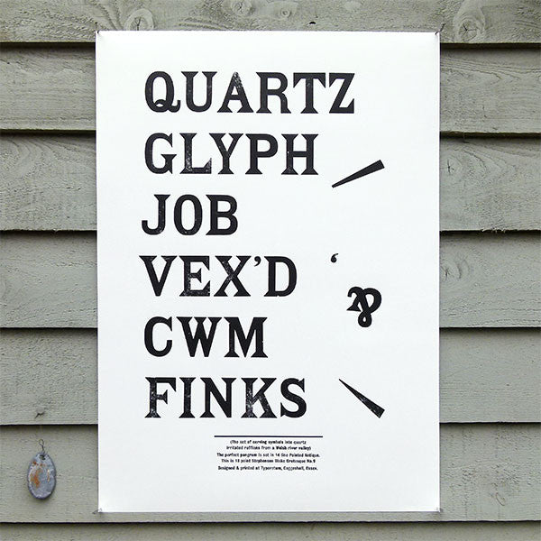 'Pointed Antique' wood type sample poster