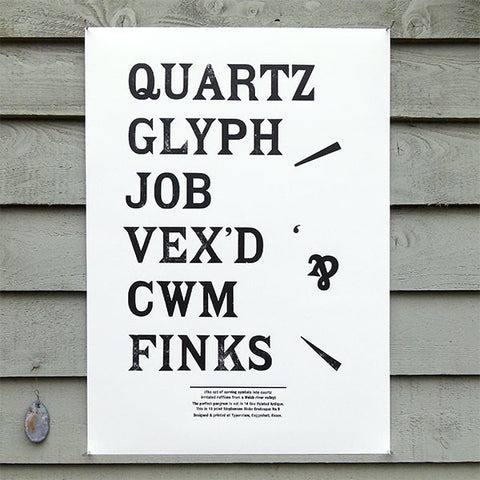 'Pointed Antique' wood type sample poster.
