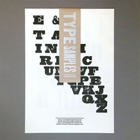 Wood & metal type sample posters (six pack)