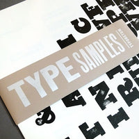 Wood & metal type sample posters (six pack).