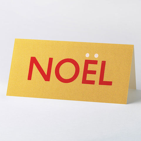 'NOËL' wood type card – gold
