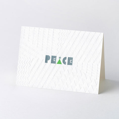 'PEACE' geometric Christmas card