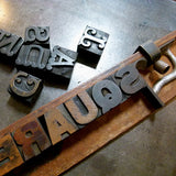 'Square Sans' & 'Tuscan' wood type sample poster.