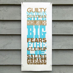 'Guilty Spectacles' wood type letterpress poster.