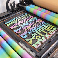 Limited edition 'Happy Days' wood type letterpress print.