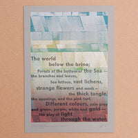 Limited edition 'The World Below the Brine' letterpress print.