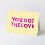 Love song title hot-foil stamped greeting cards