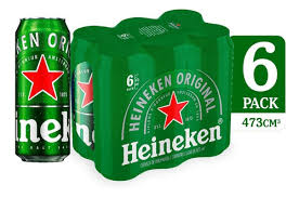 Cerveza Premium Heineken Sleek 6 Pack Lata 475ml