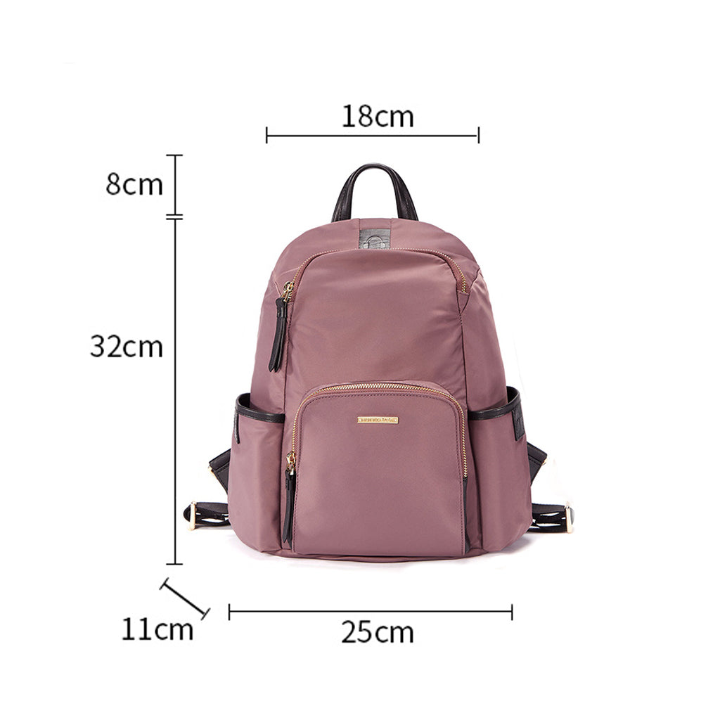 EMINI HOUSE Waterproof  Nylon Bag Backpack Female Zipper Design School Bag - EMINIHOUSE
