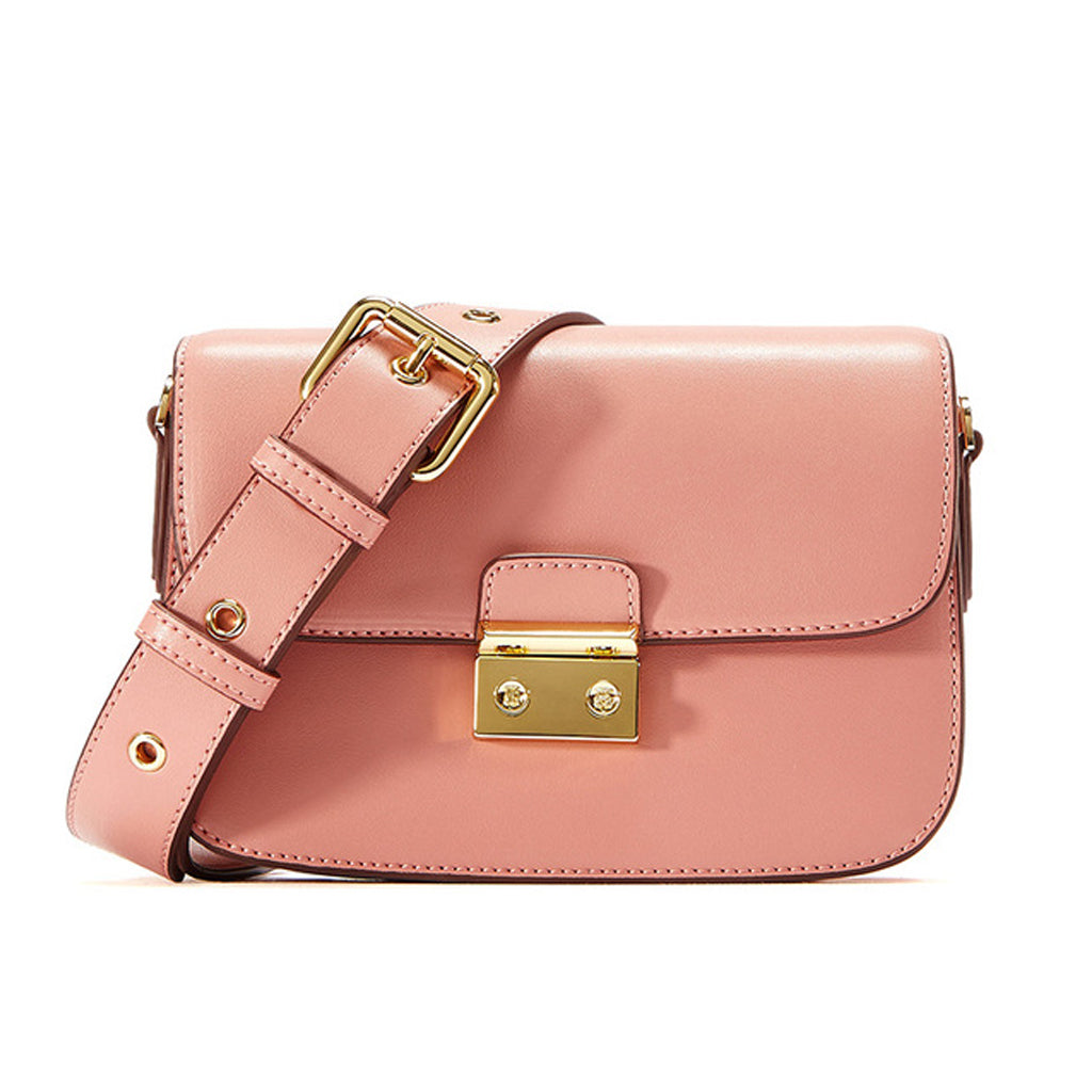 EMINI HOUSE Vintage Sling Bag with Chic Wide Strap Women Padlock Bag - EMINIHOUSE