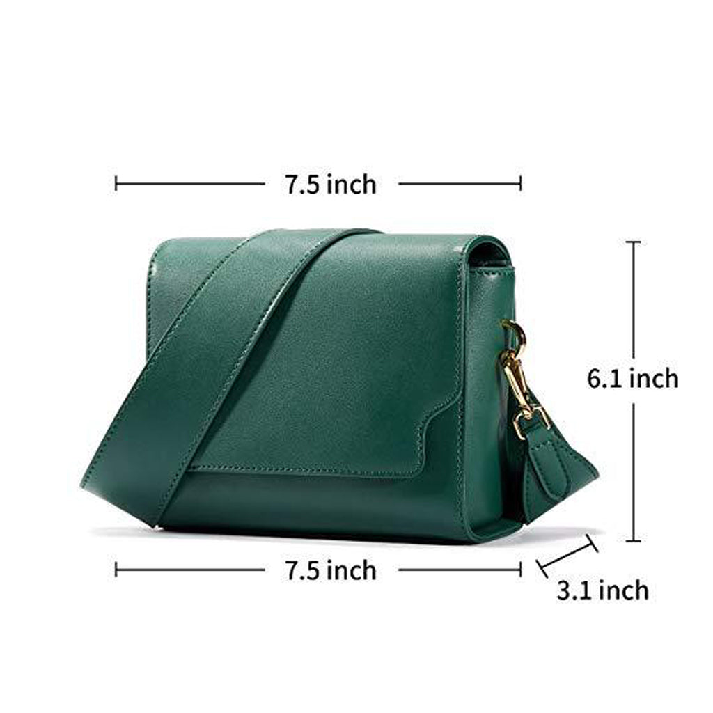 EMINI HOUSE Vintage Messenger Bag with Chic Wide Strap Women Bag