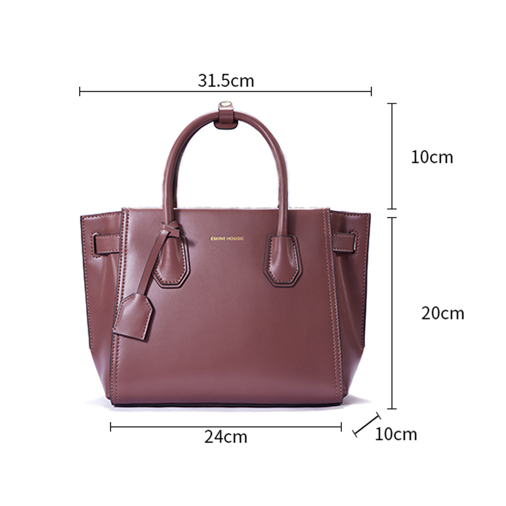 EMINI HOUSE Luxury Handbags Women Bags Designer Split Leather