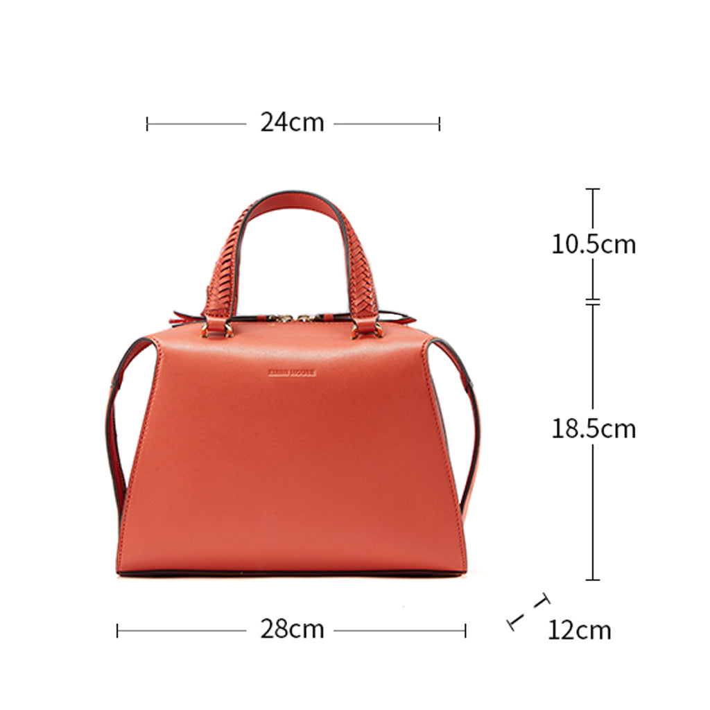 EMINI HOUSE Chic Top Handle Bag with Boston Style Women Handbag