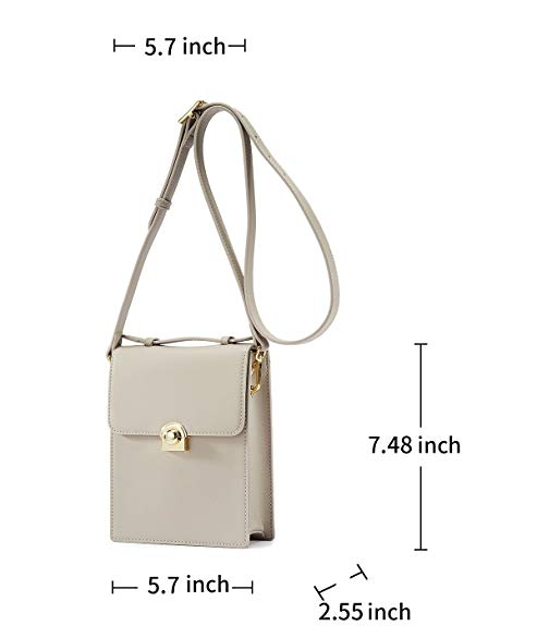 EMINI HOUSE Vintage Cellphone Purse with Turn Lock Women Crossbody Bag - EMINIHOUSE