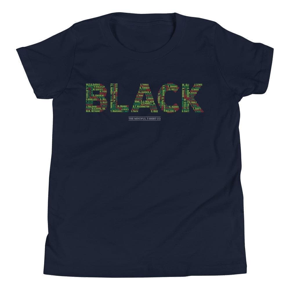 Black Leaders Youth T-Shirt Mindful T-Shirt Co.