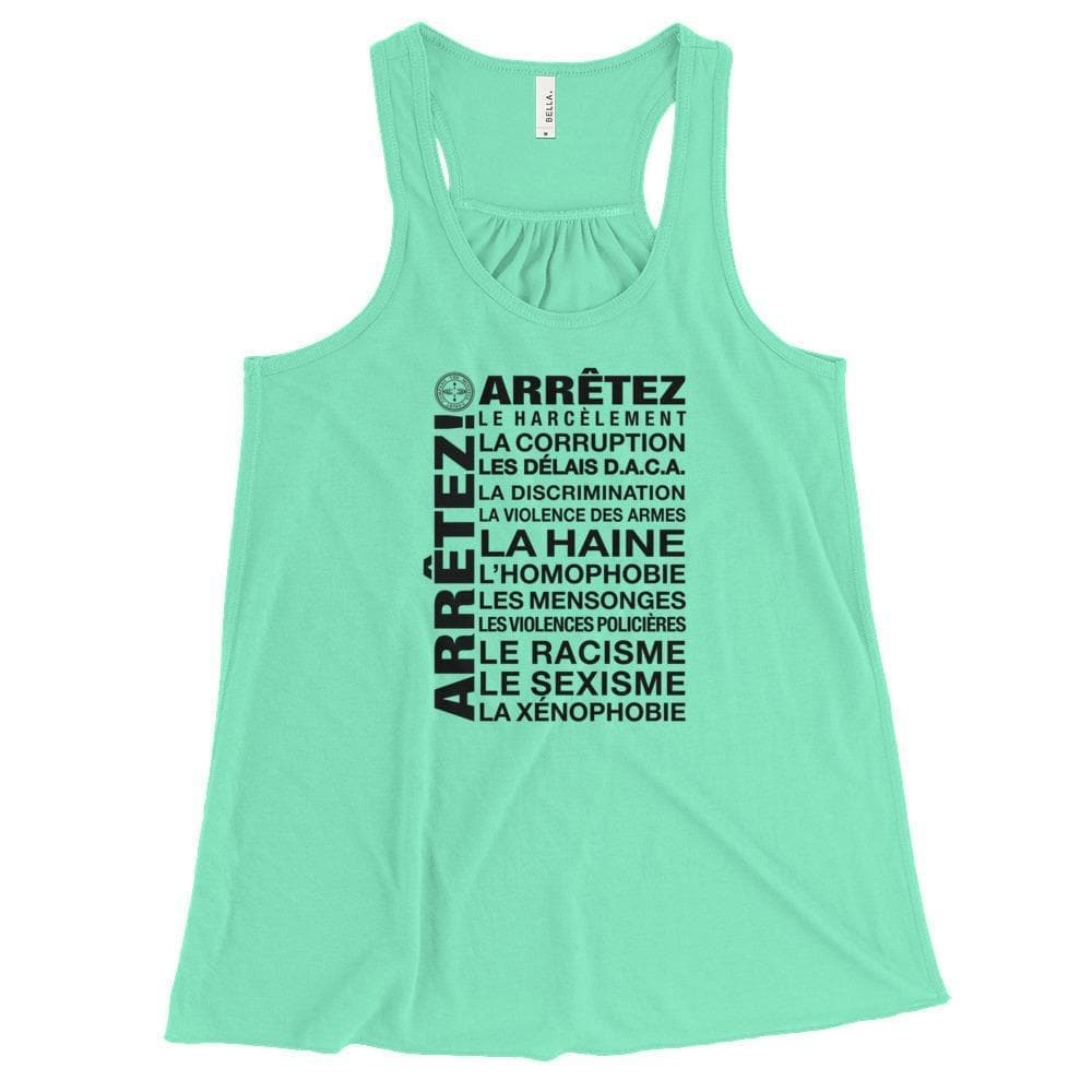 ENOUGH! - French Flowy Racerback Tank Mindful T-Shirt Co.