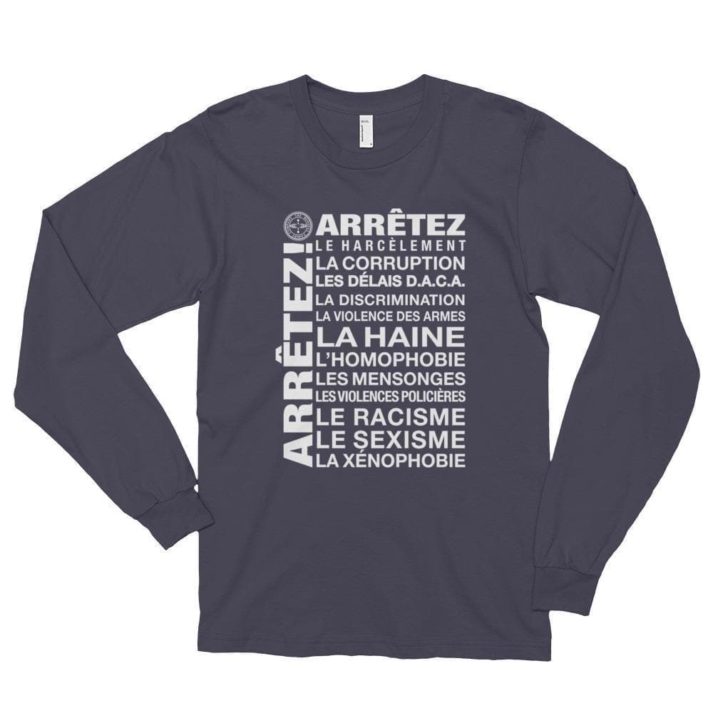 ENOUGH! - French Long Sleeve T-Shirt Mindful T-Shirt Co.