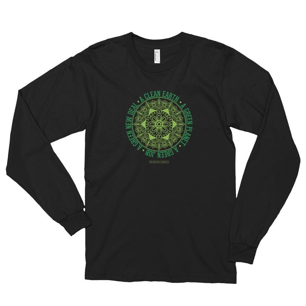 Green New Deal Long Sleeve T-shirt Mindful T-Shirt Co.