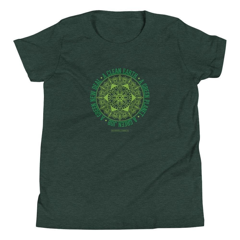 Green New Deal Youth T-Shirt Mindful T-Shirt Co.