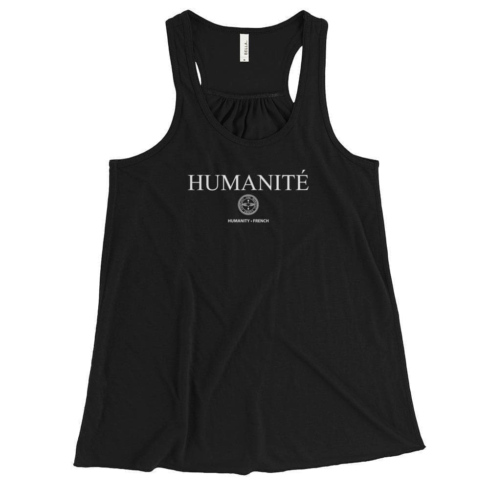 HUMANITY - French Flowy Racerback Tank Mindful T-Shirt Co.