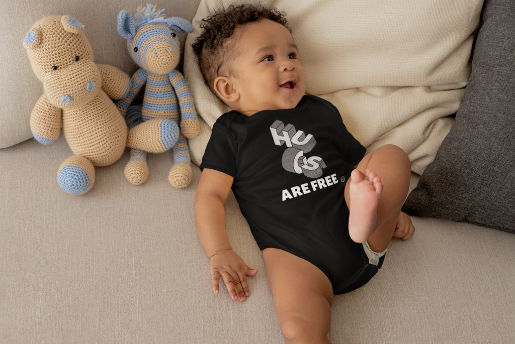 Hugs Are Free Onesies Mindful T-Shirt Co.