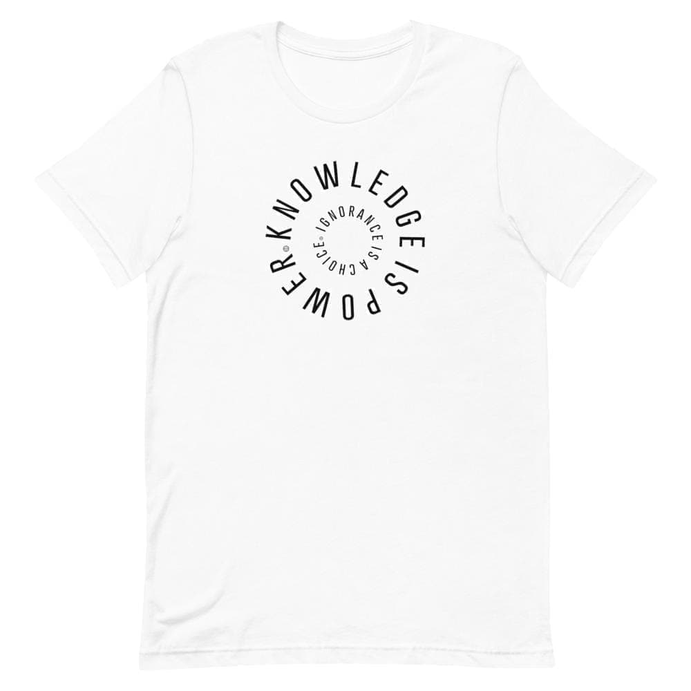 Knowledge Is Power Unisex T-Shirt Mindful T-Shirt Co.