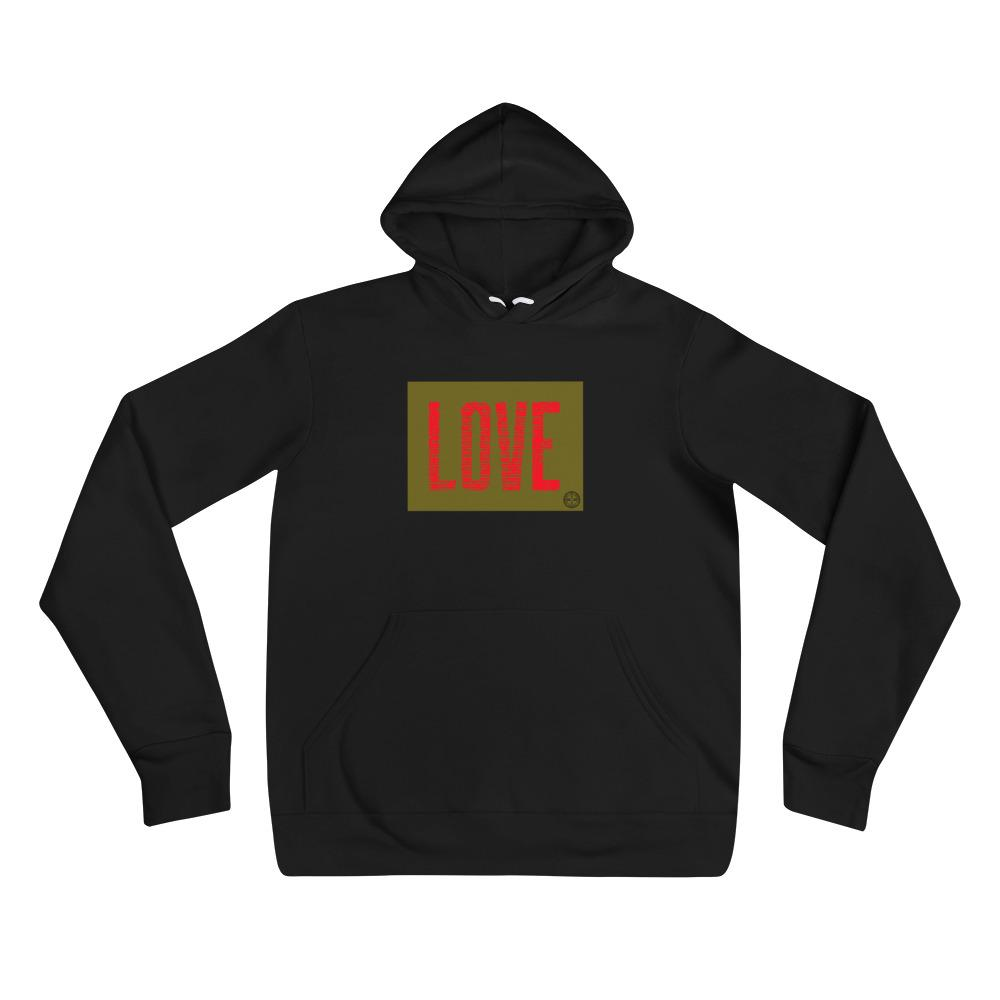 Love From The Heart hoodie Mindful T-Shirt Co.
