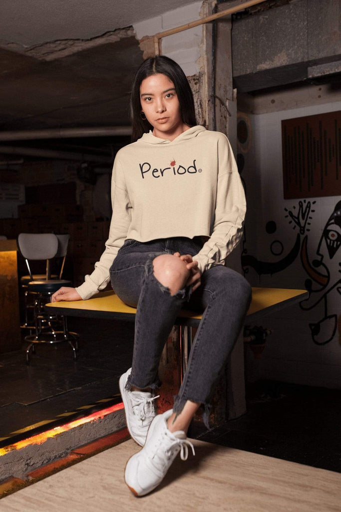 Period Crop Hoodie Mindful T-Shirt Co.
