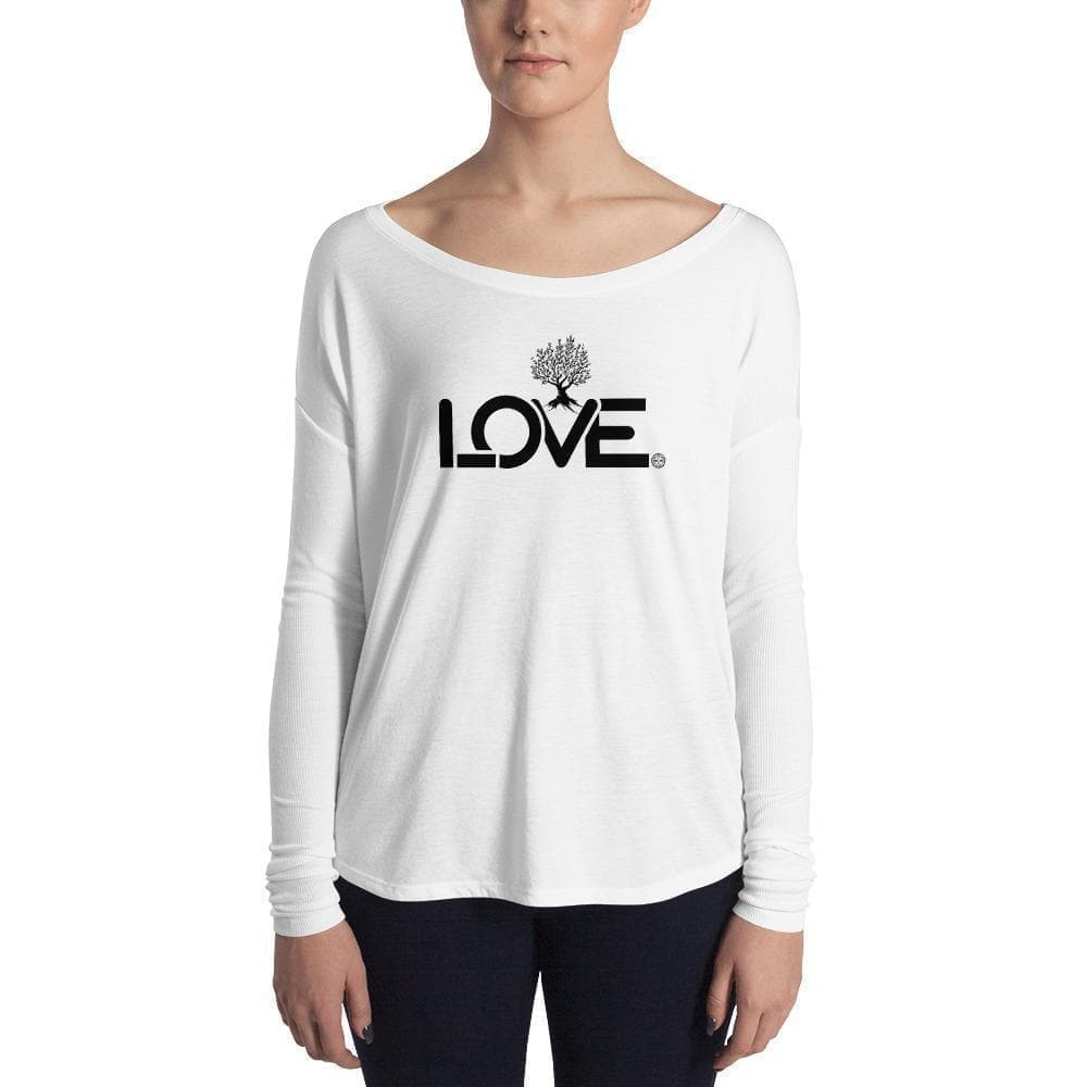 The Love Ladies' Long Sleeve T-Shirt Mindful T-Shirt Co.