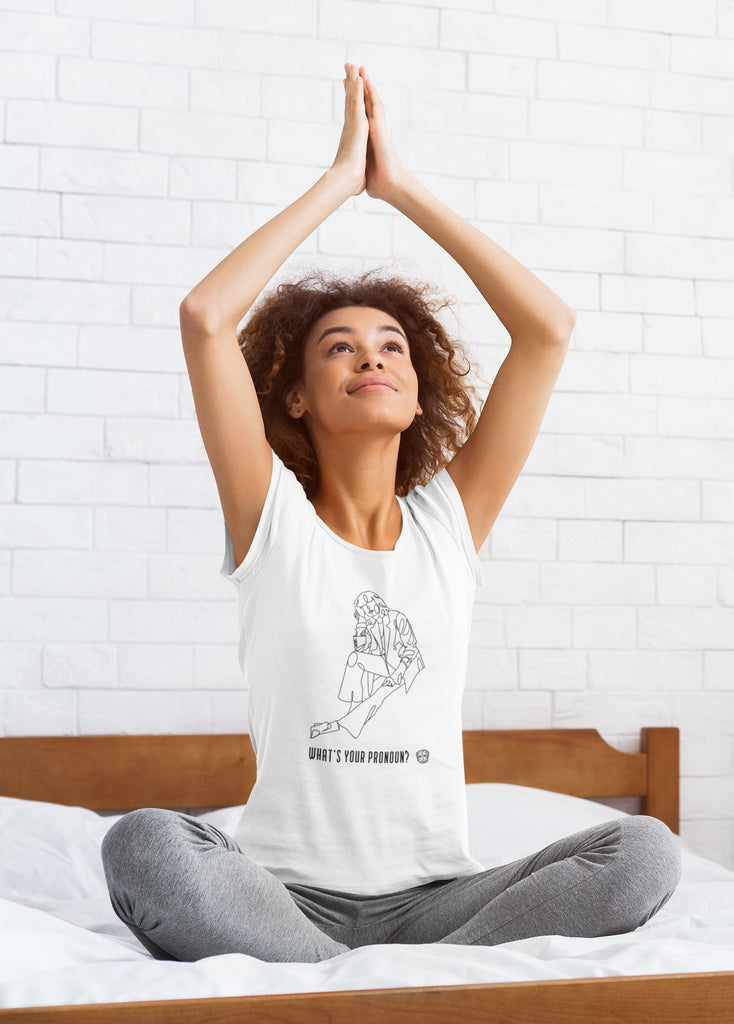 What's Your Pronoun Ladies T-shirt Mindful T-Shirt Co.