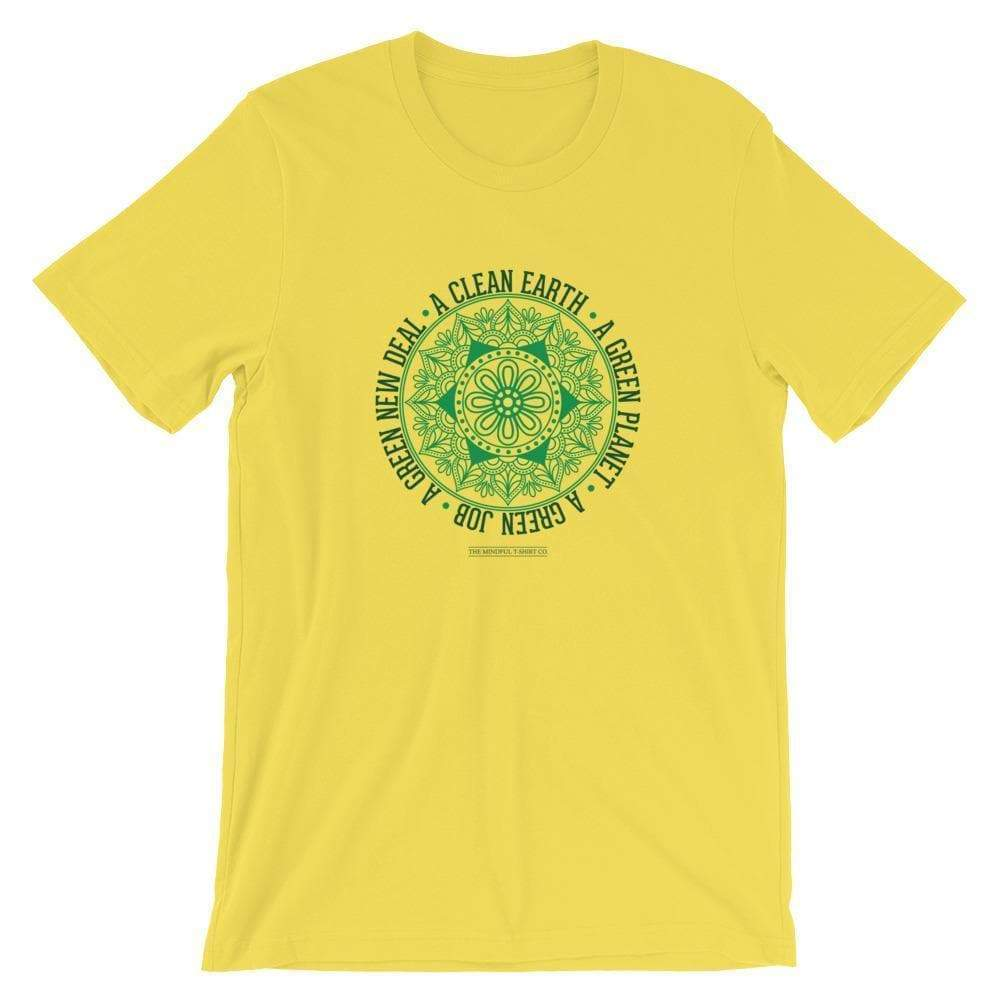Mindful T-Shirt Co. T-Shirt Yellow / S Green New Deal Premium T-Shirt