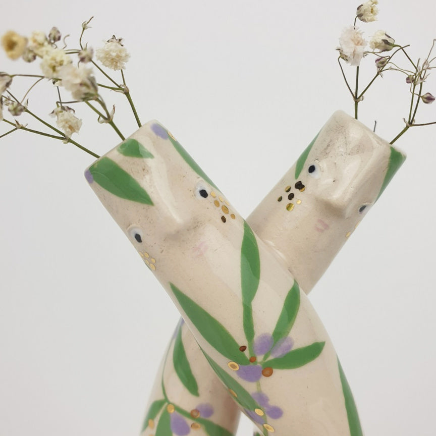 Golden Dots Collection: Lily & Liv the Cuddling Bud Vase