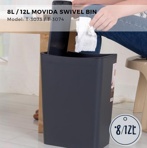 Citylife Movida Swivel Bin - 8 or 12L - T3073/3074