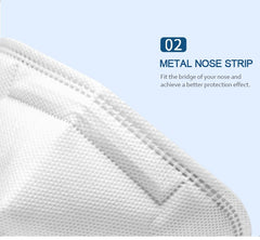 Ergonomic Design 4 Layers KN95 Mask Suitable to against for Prevention of Flu&Viruses (Bundle of 5)