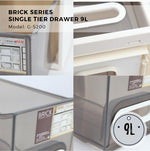 Citylife Brick Series Single Tier Drawer - 9L